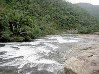 西表島の浦内川上流 - カンピレーの滝まで一望しましょう