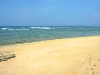 うなり崎のビーチ