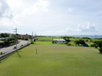西表島の開拓の里/展望台 - 大原側の景色