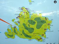 西表島の船浮マップ/船浮集落案内図 - 広域マップも設置