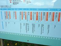 西表島の船浮マップ/船浮集落案内図 - 行事カレンダーもありました