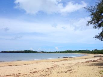 西表島のトゥドゥマリ浜/月が浜/月ヶ浜/ムーンビーチ
