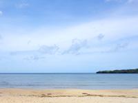西表島のトゥドゥマリ浜/月が浜/月ヶ浜/ムーンビーチ - 遠浅すぎて海水浴もままならないかも?