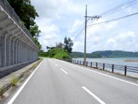 西表島の祖内〜白浜間の道の写真