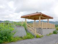 西表島の後良川/ロードパーク/親子ヤマネコ銅像の写真