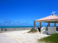 石垣島の白保海岸/白保ビーチ - 居心地の良い休憩所です