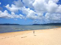 石垣島のフサキビーチ - ホテル前は遊泳範囲を制限