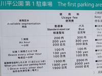 石垣島の川平公園駐車場/売店/グラスボート受付 - 料金体系