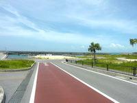 石垣島の八島小学校 護岸の写真