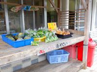 石垣島の狩俣ストア/ミニ食堂 - 露店販売の野菜や果物も人気