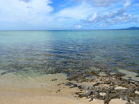 石垣島のヒュッタビーチ/八重山ヒュッタ - かなり穏やかなビーチです