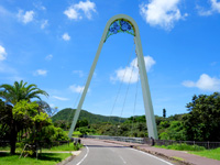 石垣島のパンナ岳公園東/バンナ岳公園東 - この橋がまさに東側のシンボル!