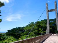 石垣島のパンナ岳公園東/バンナ岳公園東 - 石垣市街側にはこんな吊り橋も!?