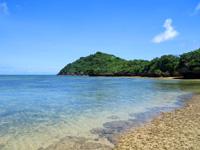 石垣島の野底崎/野底南のビーチ - 岬・集落側はすぐ岩場