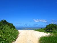 石垣島の白保シュノーケリングポイント - ビーチ入口