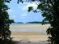 石垣島の砂の道 - ここが砂の道の入口