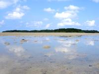 石垣島の砂の道 - 干潟が鏡のようになる時間も