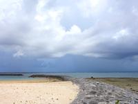 石垣島の多田浜海岸/マエザトビーチ西 - ホテル前とそれ以外との境界