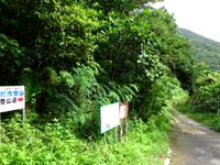 石垣島の於茂登岳 - 最後の登山道への案内板も有り