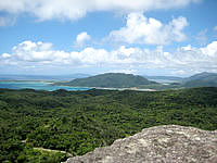 石垣島の屋良部岳頂上からの景色の写真