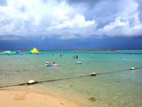 石垣島のマエザトビーチ/人工ビーチ(ホテル側)の写真