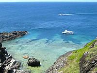 石垣島の御神崎の海の中の写真