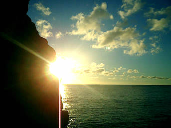 西阿室の夕日スポット