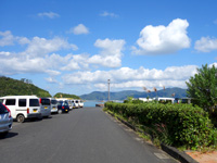 加計呂麻島の生間港 - 港自体は瀬相より小さめ(狭め)