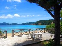 加計呂麻島のスリ浜 - スリ浜と言えば桟橋!最近改築されました