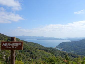 加計呂麻島の大島海峡展望所