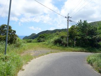 加計呂麻島のくじらの見える丘「以前は看板もあったけど今は単なる草むら化」