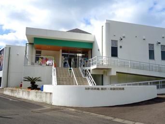 加計呂麻島の加計呂麻島展示・体験交流館/いっちゃむん屋「島で一番豪華な施設のような気がする」