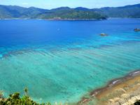 加計呂麻島の芝・実久横断路/絶景ポイント - この海の色、奄美ナンバーワン!