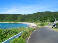 加計呂麻島の野見山集落/野見山海岸の写真