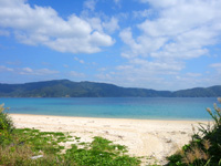 加計呂麻島の芝海岸/芝集落 - ビーチの入口はややわかりにくい