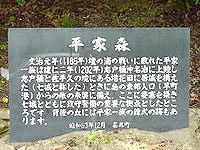 喜界島の平家森 - 由来が掘ってある石碑