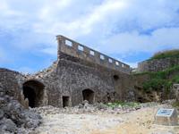 沖縄本島離島 北大東島の燐鉱石貯蔵庫跡の写真