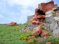 燐鉱石の乾燥工場跡