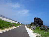 沖縄本島離島 北大東島の沖縄海への道の写真