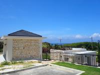 北大東島の西港の土俵/公衆トイレ - 他にもトイレなどの施設も新設