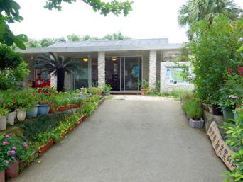 北大東島の北大東観光案内所「村役場入口の脇にある施設です」