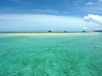 浜島の浜島/幻の島:小潮 - 潮の干満で島の大きさも海の色も変わる