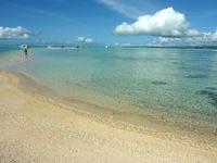 浜島の浜島西の海:小潮 - 円弧の内側は基本的に浅い