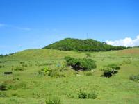 小浜島の大岳周辺の道 - 大岳北側の牧場はホントに絵になる