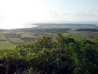 小浜島の大岳展望台からの景色 - はいむるぶしがある南東方向の景色