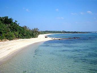 海人公園のビーチ