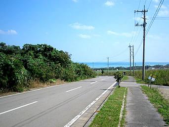 小浜集落から港へと続く道