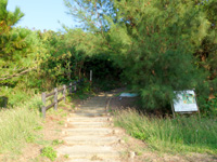 小浜島の大岳/うふだき - 登山道入口