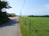 小浜島の南風花海岸・東 - はいむるぶしには入らず脇の道を進んだ先
