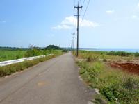 小浜島の第3シュガーロード/小浜ハイウェイ - 細崎側からスタートしています